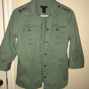 Button down military type top